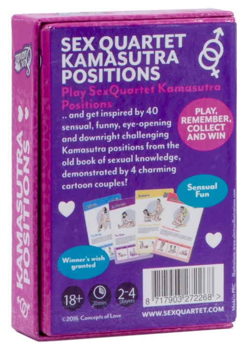 Sexquartet Cards - Positions Kamasutra