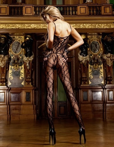 Flower lace bodystocking #440