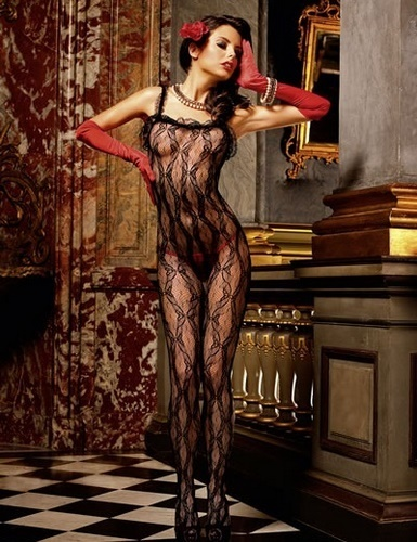 Black Lace Bodystocking #177