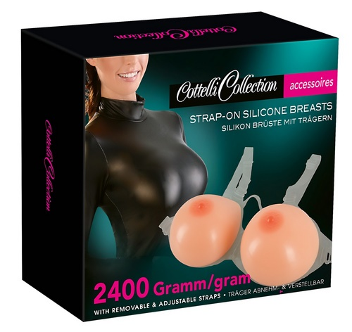 Strap-on Silicone Breasts, 2 x 1200 g
