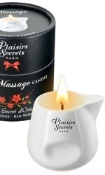 Plaisirs Secrets Massage Candle, Red Wood, 80 ml