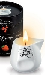 Plaisirs Secrets Massage Candle, Strawberry, 80 ml